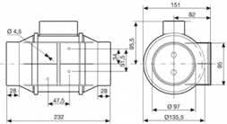 Купить в Минске S&P TD-160/100 N T SILENT - испанский канальный вентилятор с гарантией!