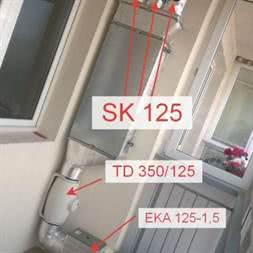 Заслонка воздушная SK 125 купить в Минске недорого. Монтаж вентиляции