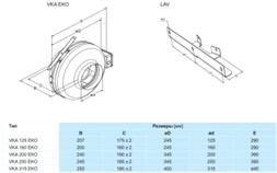 Купить в Минске Salda VKA 125 EKO канальный вентилятор от первого поставщика!