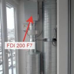 Фильтр канальный FDI 250 F7 для приточной вентиляции купить в Минске